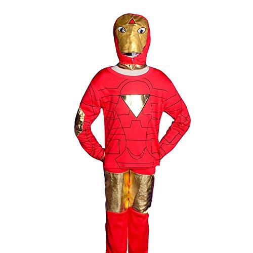 Dressy Daisy Boys' Iron Man Superhero Fancy Set Costume Mask Halloween Party Kid