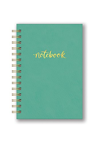 Studio Oh! Hardcover Leatheresque Spiral Notebook Available in 6 Colors, Actually Aqua
