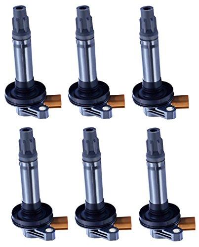 Pack of 6 Ignition Coils for Ford Lincoln - Explorer Expedition F-150 Flex MKS MKT Transit Interceptor Taurus Navigator - V6 3.5L Compatible with C1814 DG549 UF646