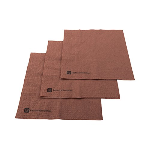 Paper Dinner Napkins, 2 Ply Napkins, Disposable Dinner Napkins - Brown - 16