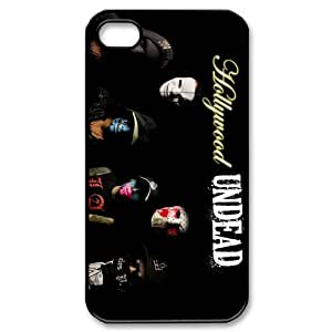 American rap rock band Hollywood Undead Personalized iPhone 4,4S Hard Plastic Shell Case Cover White&Black(HD image)