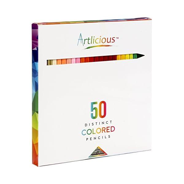 Artlicious-50-Premium-Distinct-Colored-Pencils-for-Adult-Coloring-Books-Bonus-Sharpener-Color-Names-on-Pencils