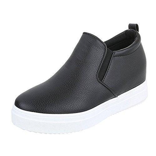 Ital-Design - Zapatillas de casa Mujer Schwarz 6689-Y