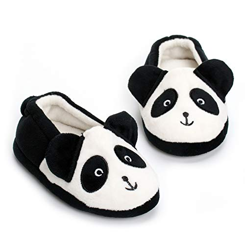 MK MATT KEELY Toddler Boys Panda Slipper Cartoon Cute Animals Winter Cotton Warm Shoes M Black