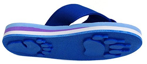 Price comparison product image Bear Blue Medium Kids Paw Print Flip Flops fun for Beach, Trail and Pool.