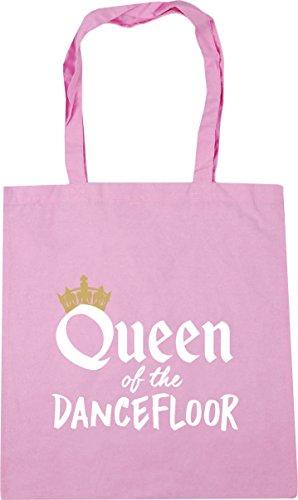 HippoWarehouse Queen of the Dancefloor Tote Shopping Gym Beach Bag 42cm x38cm, 10 litres Classic Pink