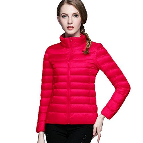 Respeedime Winter New Slim Down Coat Women Stand Collar Fashion Down Jacket