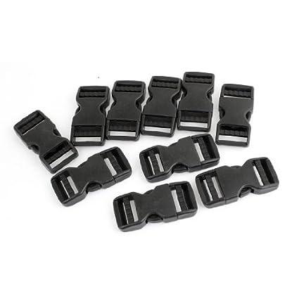 Amazon.com: eDealMax lateral plástico Hebilla de liberación rápida reemplazo DE 1 pulgada 10 piezas Negro: Home & Kitchen