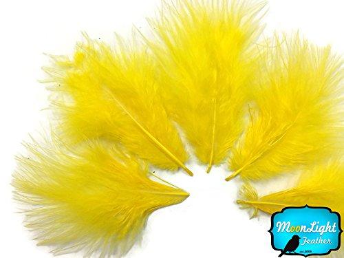Turkey Feathers Marabou Short Yellow product image