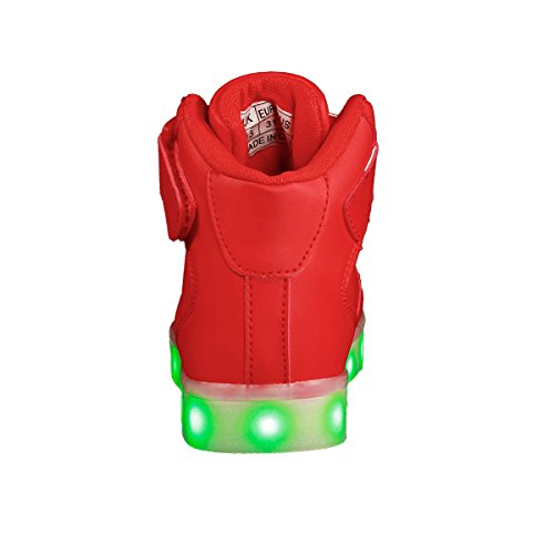 a2055b4387c Voovix Kids LED Light up Shoes Flashing Trainers High-top Charging Sneakers  with Remote Control for Boys and Girls