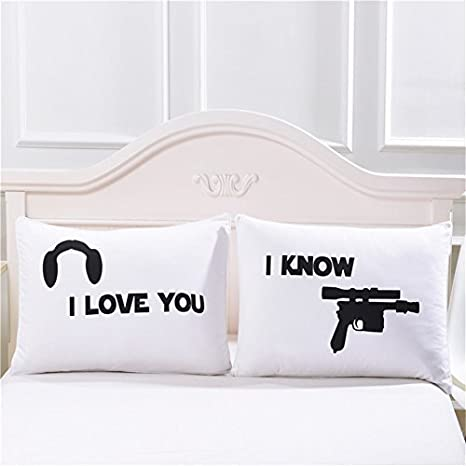 I Love You I Know Pillow Cases Couples Pillowcases For Him Her Boyfriend Girlfriend Husband Wife His Hers Wedding Anniversary Gift Christmas