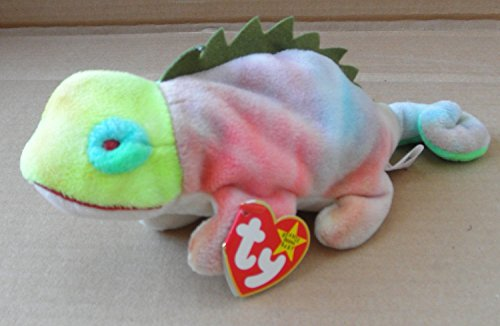 TY Beanie Babies Iggy the Iguana Stuffed Animal Plush Toy - 9 inches long - Multi-color - No tongue (Iggy Beanie Baby)