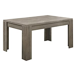 Monarch Specialties , Dining Table, Dark Taupe Reclaimed-Look ,60″L