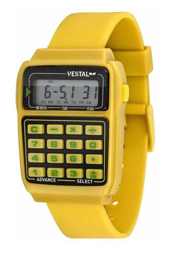 Vestal Unisex DAT002 Datamat Yellow and Black Calculator Watch