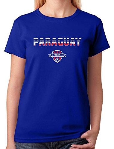TeeStars - Paraguay National Soccer Team 2016 Paraguayan Fans Women T-Shirt XX-Large Blue ()