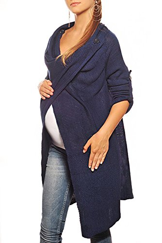 Purpless Maternity Embarazo Cárdigan 9001 Navy