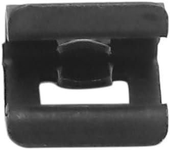 Sourcing Map 10pcs 7mm Loch Schwarz Metall Nieten Auto Innen Instrumententafel Panel Clips De Auto
