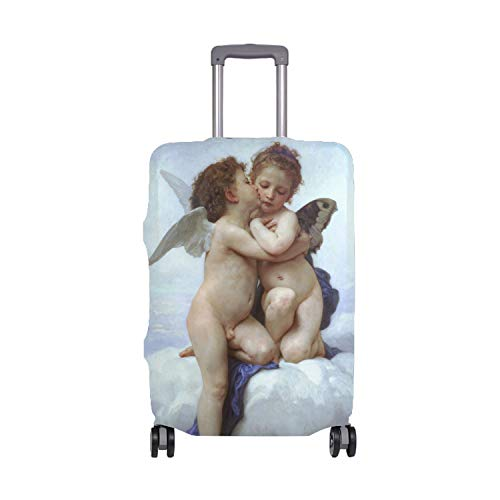 FashionFirst Kiss Angel Luggage Covers Suitcase Protector Jacket Dust-proof Anti-thief Dust-proof Case from FSFFDFEEE