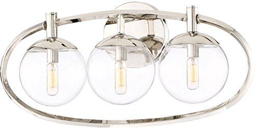 Craftmade Vanity Lighting - Craftmade 45503-PLN Piltz Orb Vanity Wall Lighting, 3-Light, 120 Watts, Polished Nickel (23