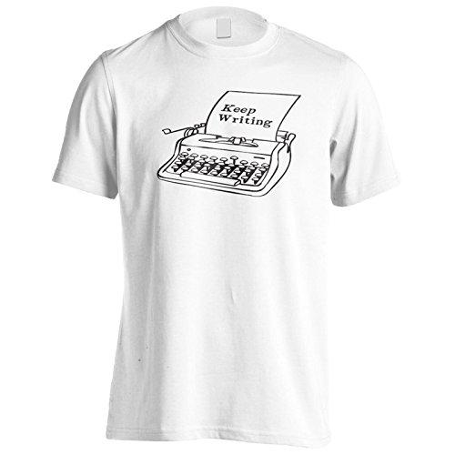 Schreibe Schwarz Herren T-Shirt k971m