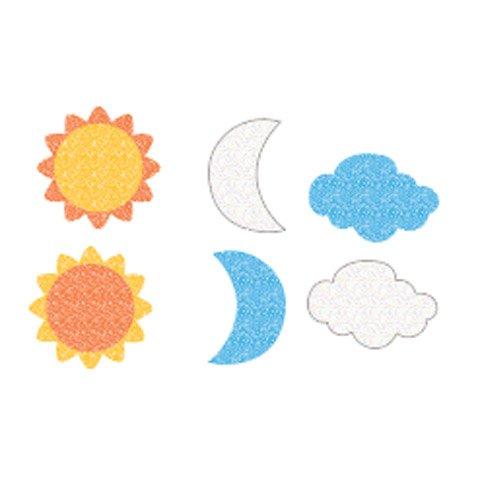 Better Crafts FOAM STICKER GLITTER SUN.MOON.CLOUDS (3 pack) -