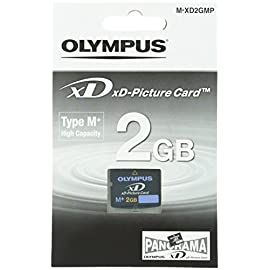 Olympus 2gb xd picture card type m+ retail package 1 a reusable digital media that works with most manufacturers' xd-compatible devices the only xd cards that support the panorama function found on most olympus digital cameras meets the memory capacity needs of today, and readily available to fulfill the increased memory capacity needs of tomorrow