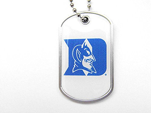 aminco Duke Blue Devils Dog Tag Domed Necklace Charm Chain Ncaa