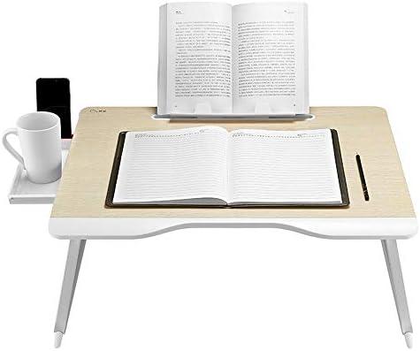 折りたたみテーブル スタンディングベッドテーブルポータブルフロアラップデスク折りたたみ式ラップトップデスク朝食読書トレイホルダー多目的折りたたみ式テーブル ベッド、ソファ、オフィスに最適 (Color : Picture Color, Size : 65*49*30cm)