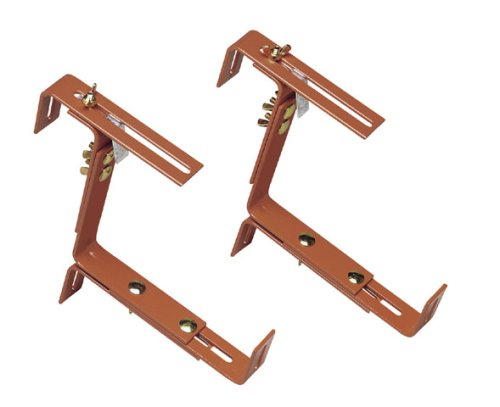 Emsa 5957001400 Vario Window Box Brackets for Wall and Railing, pre-Assembled, Terracotta, Supports up to 50 kg