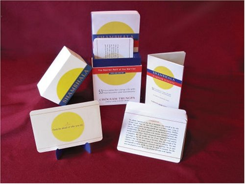 Shambhala: The Sacred Path of the Warrior: Book and Card Set