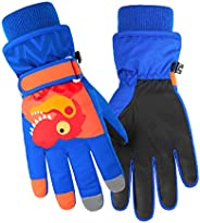 Azarxis Kids Children Snow Gloves Winter Windproof Ski Gloves for Snowboarding, Sledding, Cycling
