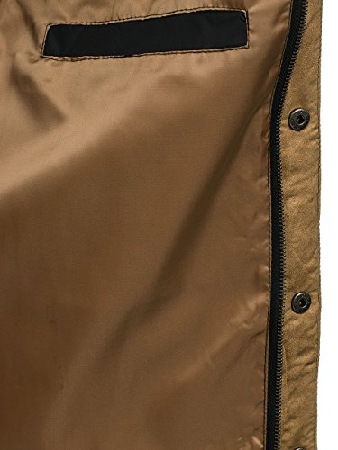 Men's Black Hood BOLF Quilted Jacket Mix Lightweight 010 Casual Transitional 4D4 BdTSa