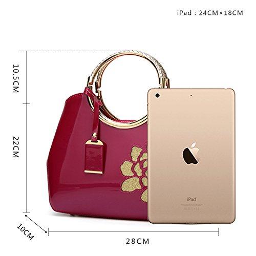 del Borsa rosa borsa Spalla a Donna Rosa Mano di sacchetto Rossa a Borse borsa rossa GAVERIL Tote tracolla Borse Borsa pXRFx1ww