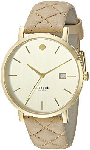 kate spade new york Women's 1YRU0844 Metro Grand Watch With Tan Leather Band