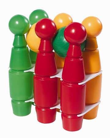 Androni Giocattoli 7224 Set di Birilli 6 e Palline 2, Plastica, Multicolore