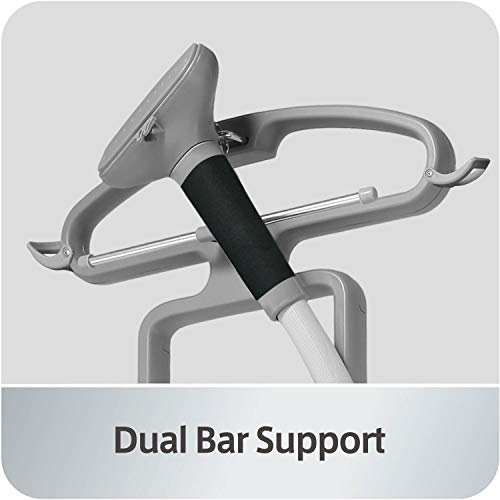 SALAV Professional Series Dual Bar Garment Steamer with Foot Pedals, GS45-DJ Silver
