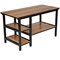 Coffee Station Table Black Metal Legs with Storage Shelves for Living Room Station from BARBALL