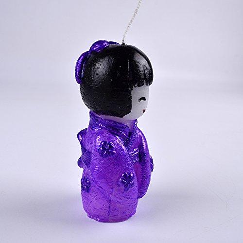 Nicole Moule en silicone japonais asiatique Petite fille pour la cr/éation de bougie Chocolat Savon Moule DIY Craft Outil