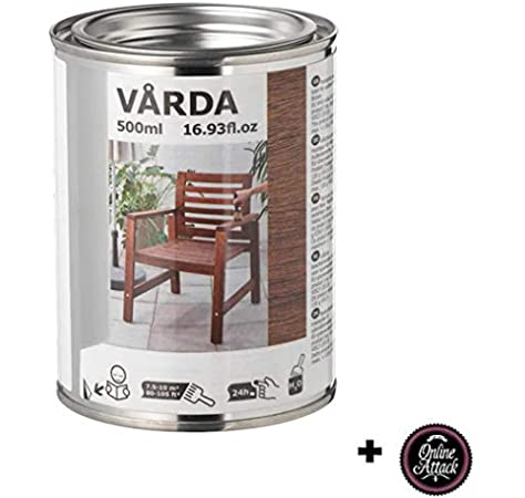 unknow Varda Ikea - Barniz para madera al aire libre, 500 ml, color marrón: Amazon.es: Jardín