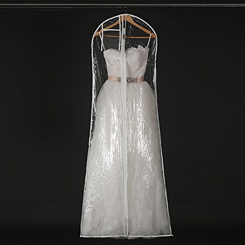 - Henglizh Transparent Wedding Dress Dust Cover Garment Bags Bridal Gown Bag Waterproof PVC Storage Bag Hanging Covers