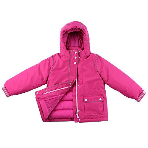 Momo Grow Little Girl's ''Harper'' Down Filled Snow Jacket-Raspberry 4 by Momo Baby