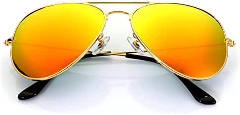 Aviator Sunglasses Polarized for Men Women,Flash Mirror Lens UV400 Sunglasses Eyewear with Sun Glasses Case