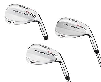 Wilson 52 , 56 60 Men s RH Harmonized Silver Chrome Wedge Golf Club Set