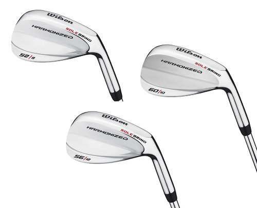Wilson 52°, 56° & 60° Men's RH Harmonized Silver Chrome Wedge Golf Club Set