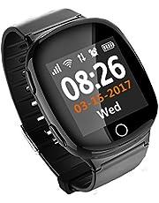 """VIDIMENSIO GPS Telefon Uhr """"Paladin - schwarz"""", ohne Abhörfunktion, neueste Version,mit sicherem deutschen Server, GPS-Ortung, SOS Notruf + Telefonfunktion, Anleitung+Uhr+App+Support: auf Deutsch"""