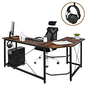 l-shaped computer and gaming desk