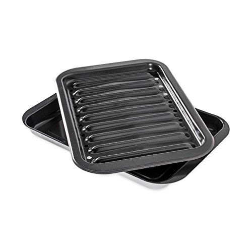 Nonstick broiler pan set.