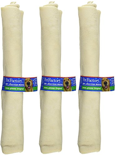 (3 Pack) Pet Factory Rawhide Retriever Rolls Treat, 10-Inch by Pet Factory