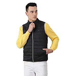 Monte Carlo Solid Black Coloured Polyester Jacket