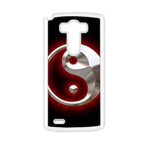 Red Silver Circle personalized creative clear protective cell phone case for LG G3